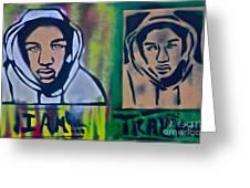 Trayvon Martin Greeting Card by Tony B Conscious