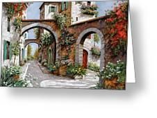 Tre Archi Greeting Card by Guido Borelli