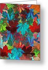 Tree Leaves Greeting Card by Klara Acel