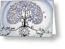 Tree Of Life Greeting Card by Anjali Vaidya