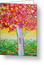 Tree Of Life In Spring Greeting Card by Ana Maria Edulescu