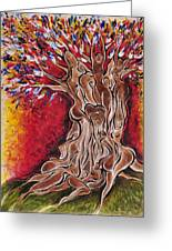 Tree Of Life Greeting Card by Sherrell Cisco