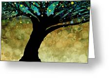 Tree Of Life Two  Greeting Card by Ann Powell
