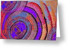 Tree Ring Abstract 2 Greeting Card by Tony Rubino