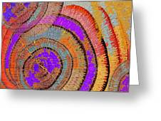 Tree Ring Abstract Greeting Card by Tony Rubino