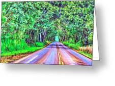 Tree Tunnel Kauai Greeting Card by Dominic Piperata