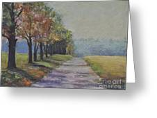 Treelined Road Greeting Card by Joyce A Guariglia