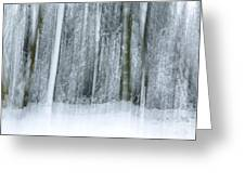 Trees And Snow Abstract Greeting Card by David Birchall