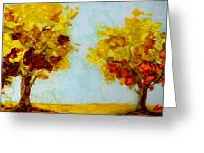 Trees In The Fall Greeting Card by Patricia Awapara