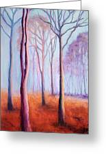 Trees In The Mist Greeting Card by Marion Derrett
