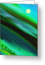 Trees Near The Lake Greeting Card by Lenore Senior