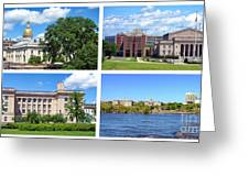 Trenton New Jersey Greeting Card by Olivier Le Queinec
