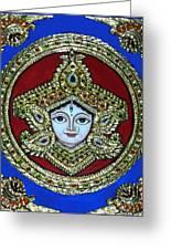 trinetra Durgaji Greeting Card by Vimala Jajoo