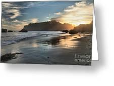Trinidad Beach Reflections Greeting Card by Adam Jewell