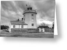 Trinity House Lighthouse Bw Greeting Card by David French