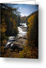 Triple Falls Greeting Card by Penny Lisowski