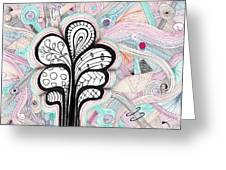 Trippy Trees Greeting Card by Lori Thompson