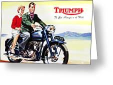 Triumph 1953 Greeting Card by Mark Rogan