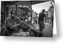 Trombone in New Orleans 2 Greeting Card by David Morefield