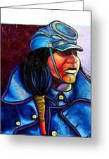 Trooper Crow-horse Greeting Card by Joe  Triano