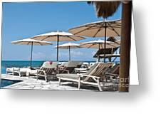 Tropical Beach Luxury Paradise Greeting Card by Valerie Garner