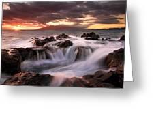 Tropical Cauldron Greeting Card by Mike  Dawson