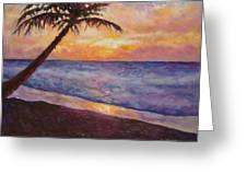 Tropical Interlude Greeting Card by Eve  Wheeler