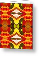 Tropical Leaf Pattern  11 Greeting Card by Amy Vangsgard