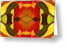 Tropical Leaf Pattern 17 Greeting Card by Amy Vangsgard