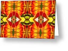 Tropical Leaf Pattern 2 Greeting Card by Amy Vangsgard