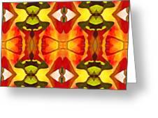 Tropical Leaf Pattern 7 Greeting Card by Amy Vangsgard