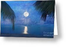 Tropical Moonglow Greeting Card by Betty LaRue