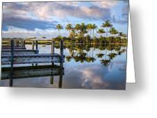 Tropical Morning Greeting Card by Debra and Dave Vanderlaan