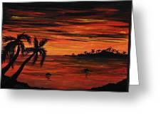 Tropical Night Greeting Card by Anastasiya Malakhova