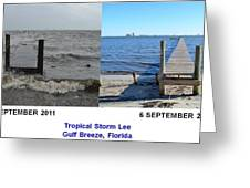 Tropical Storm Lee Difference a Day Makes Greeting Card by Jeff at JSJ Photography