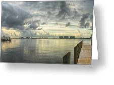 Tropical Winds In Orange Beach Greeting Card by Michael Thomas