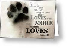 True Love - By Sharon Cummings Words By Billings Greeting Card by Sharon Cummings