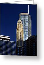 Trump International Hotel And Tower Chicago Greeting Card by Christine Till