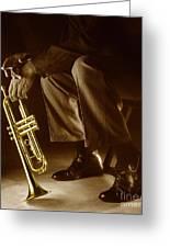 Trumpet 2 Greeting Card by Tony Cordoza