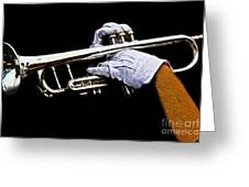 Trumpet Greeting Card by Tom Gari Gallery-Three-Photography