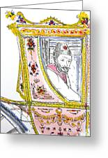 Tsar In Carriage Greeting Card by Marwan George Khoury