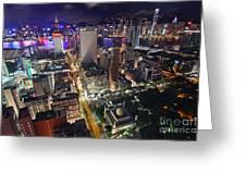 Tsim Sha Tsui In Hong Kong Greeting Card by Lars Ruecker