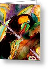 Tu Can Toucan Greeting Card by Lil Taylor
