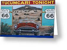 Tucumcari Tonight Mural On Route 66 Greeting Card by Carol Leigh