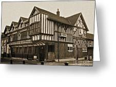 Tudor House Southampton Greeting Card by Terri  Waters