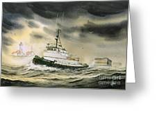 Tugboat Agnes Foss Greeting Card by James Williamson