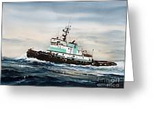 Tugboat Island Champion Greeting Card by James Williamson
