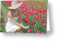 Tulip Beauty Greeting Card by Maria Dryfhout