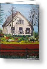 Tulip Cottage Greeting Card by Martin Howard