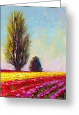 Tulip Sentinels Greeting Card by Talya Johnson